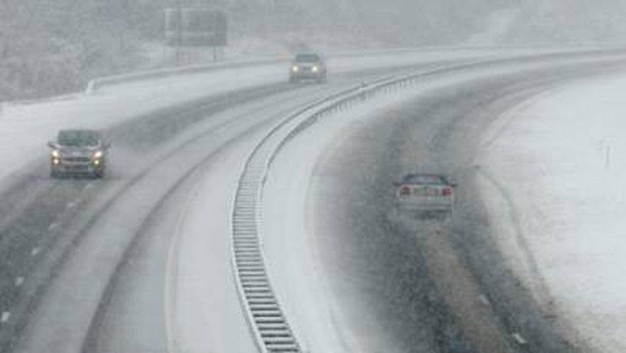 Aveyron : l'A75 interdite aux poids-lourds et aux véhicules non-équipés jusqu'à dimanche matin !