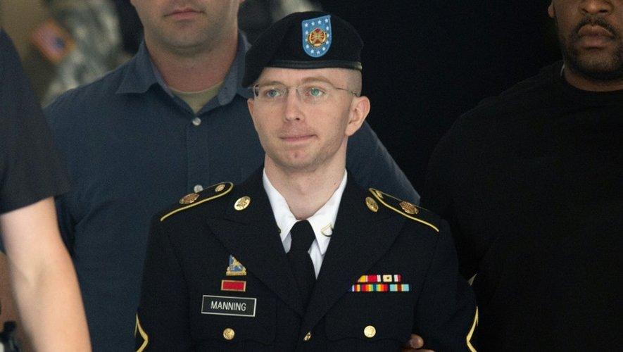 Bradley Manning, avant de devenir Chelsea Manning, lors de son procès le 31 juillet 2013 à Fort Meade dans le Maryland aux Etats-Unis