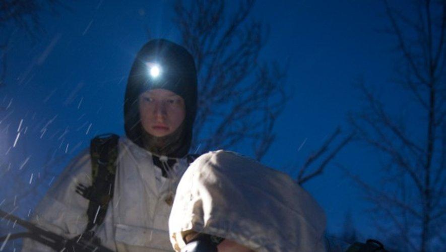 Des paramilitaires participent à un exercice militaire à Narva, en Estonie, le 14 janvier 2017