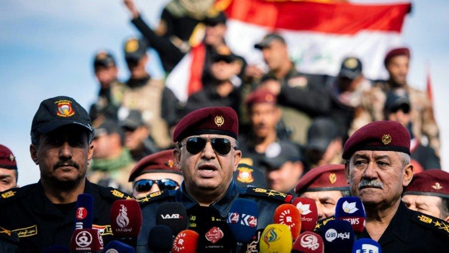 Le général Talib al-Sheghati le 18 janvier 2017 à Bartalla, dans la périphérie est de Mossoul