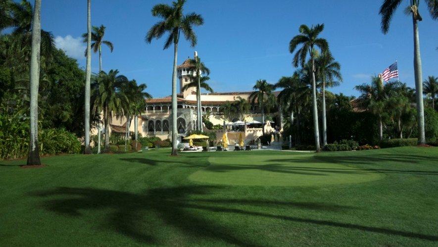 Le Mar-a-Lago Club où la famille Trump possède des appartements privés, le 1 janvier 2017 à Palm Beach en Floride