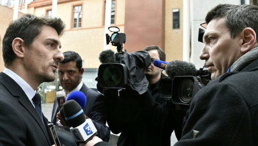 """Selon Me Jean Tamalet (ici à Toulouse le 18 mars 2016), l'avocat du gendarme qui a tiré lagrenade mortelle, """"l'issue inéluctable du dossier est un non-lieu"""""""