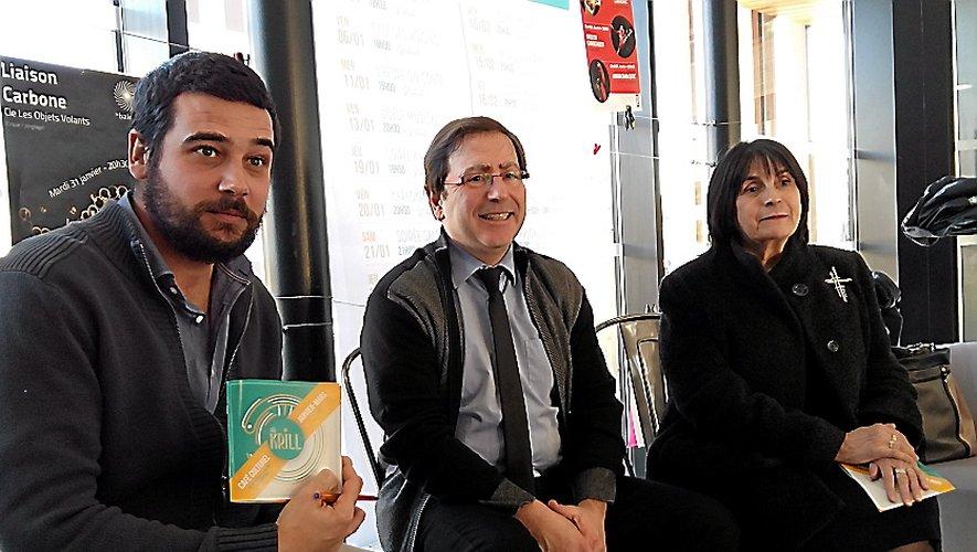 Le maire Jean-Philippe Keroslian et Monique Buerba, soutiennent la programmation du Krill.