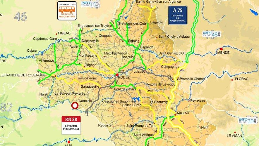 Neige : circulation difficile ce jeudi sur plusieurs axes en Aveyron