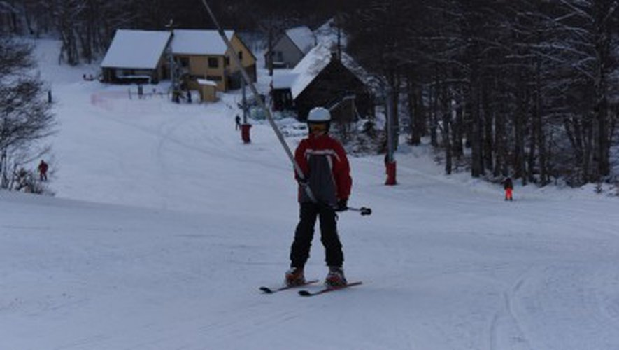 Aubrac : jusqu'à 40 centimètres de neige en haut des pistes de ski