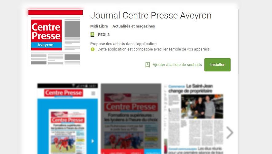 Centre Presse Aveyron change d'application mobile et tablette