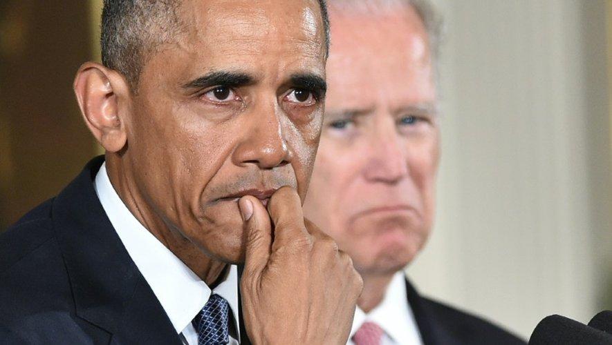 Le président Barack Obama le 5 janvier 2016 à la Maison Blanche à Washington