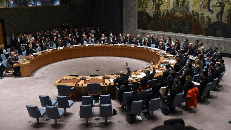 Le Conseil de sécurité de l'Onu réuni le 18 décembre 2015 à New York