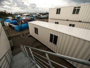 """Calais: un camp en dur inauguré au sein de la """"Jungle"""""""