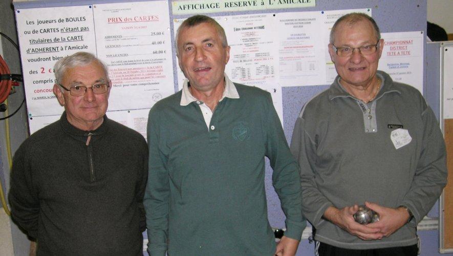 La triplette de Sébazac Moulin, Aumaréchal et Citerneschi.