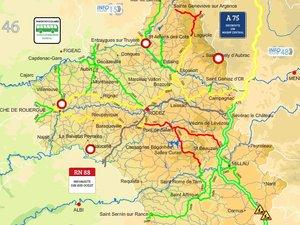 Neige en Aveyron : prudence sur les routes !