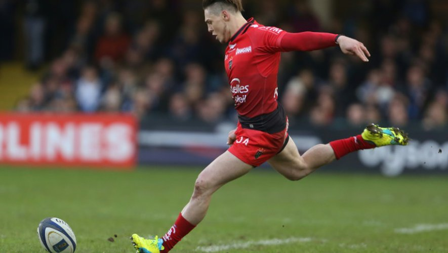 La pénalité décisive du Toulonnais James O'Connor contre Bath, le 23 janvier 2016 au Recreation Ground