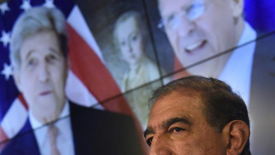 Qadri Jamil, un ancien vice-Premier ministre syrien, à Moscou le 12 novembre 2015