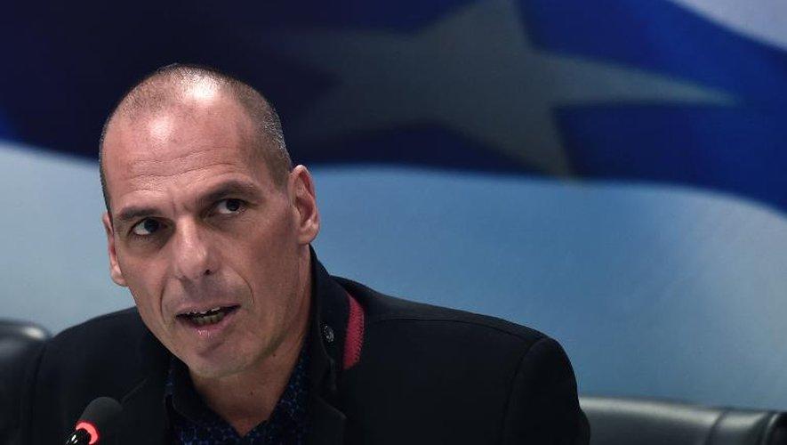 Le ministre grec des Finances Yanis Varoufakis, le 28 janvier 2015 à Athènes