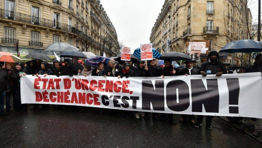 Manifestation contre l'état d'urgence à Paris le 30 janvier 2016