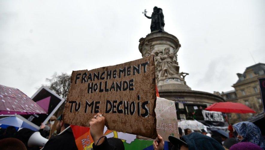 Manifestation contre l'état d'urgence Place de la République à Paris le 30 janvier 2015