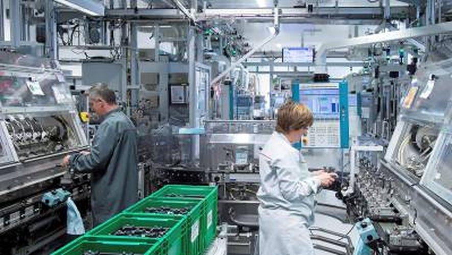 Une usine 4.0 connectée <br />sur l'industrie du futur