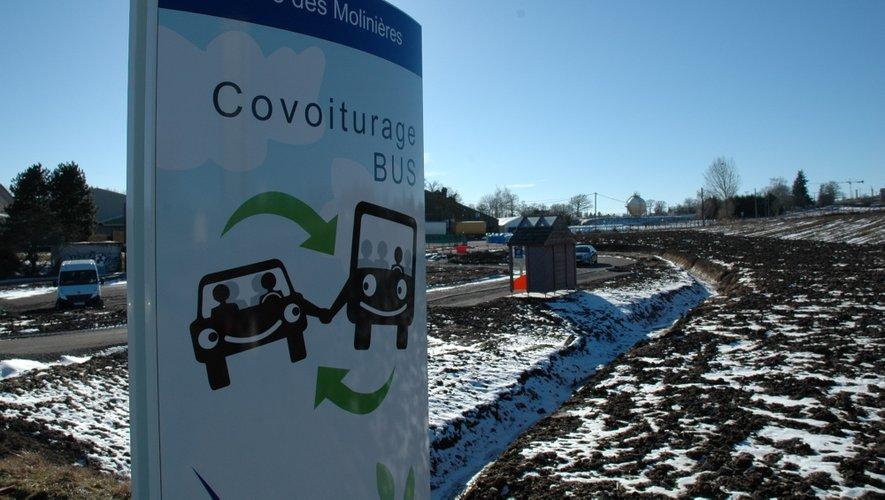Aménagée à hauteur du giratoire des Molinières, cette nouvelle aire de covoiturage sera en service dans moins d'un mois.