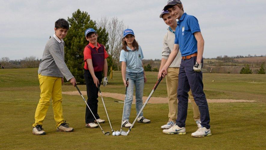 La relève des golfeurs aveyronnais.