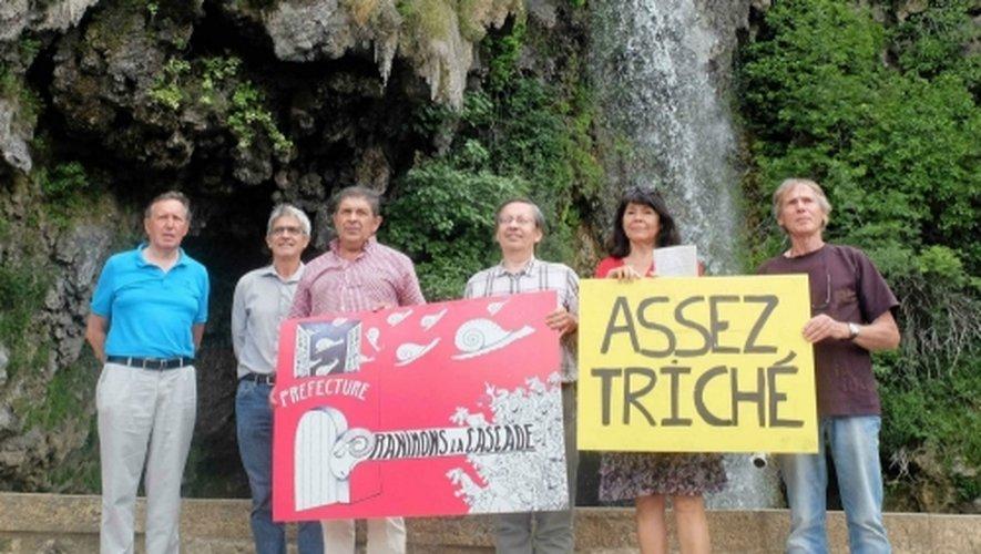 Les membres combatifs de l'association «Ranimons la Cascade» espèrent beaucoup des prochaines décisions de justice.