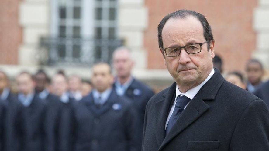 Le président François Hollande le 16 février 2015 à Montry