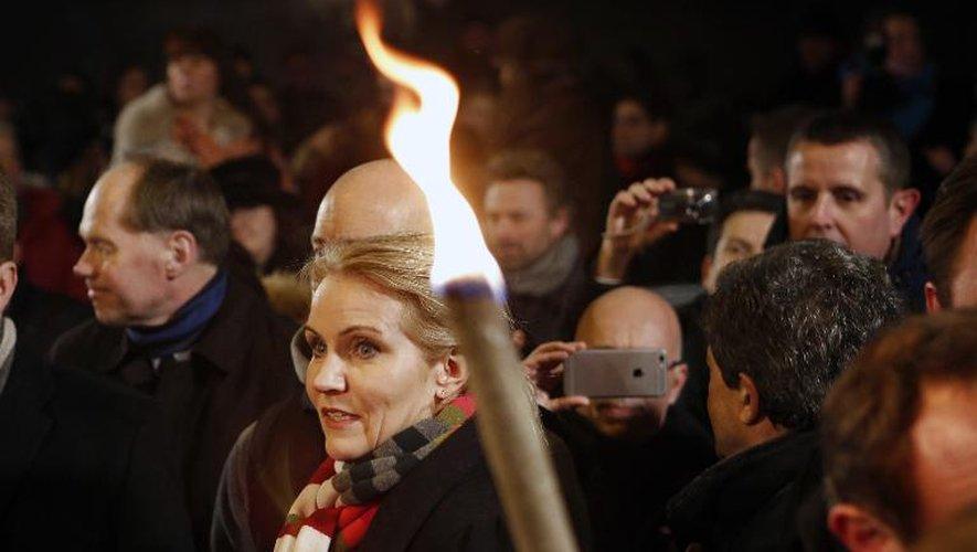 La chef du gouvernement danois Helle Thorning-Schmidt, le 16 février 2015 à Copenhague