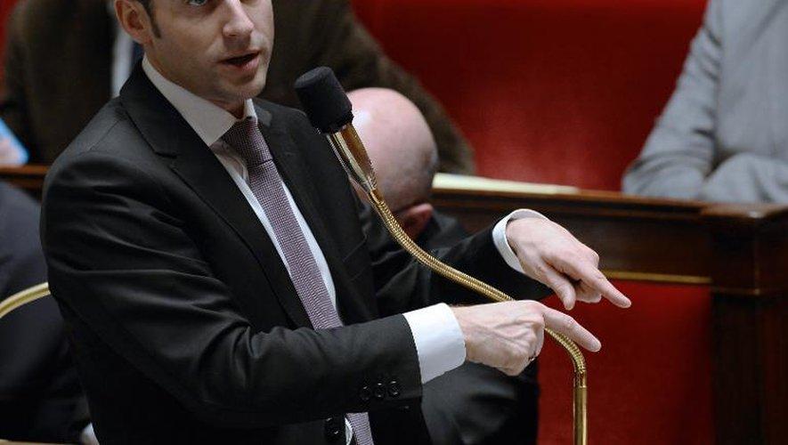 Le ministre de l'Economie Emmanuel Macron à l'Assemblée nationale le 14 février 2015 à Paris