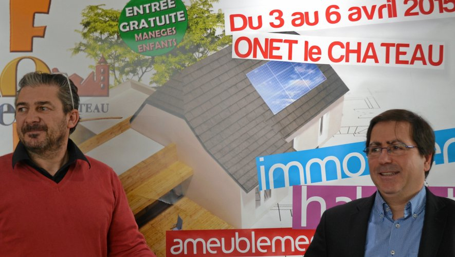 Pascal Angles et Jean-Philippe Kéroslian, main dans la main pour la foire-expo.
