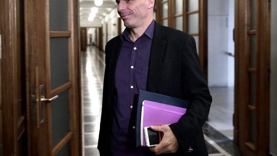 Le ministre des Finances grec Yanis Varoufakis, le 24 février 2015 à Athènes