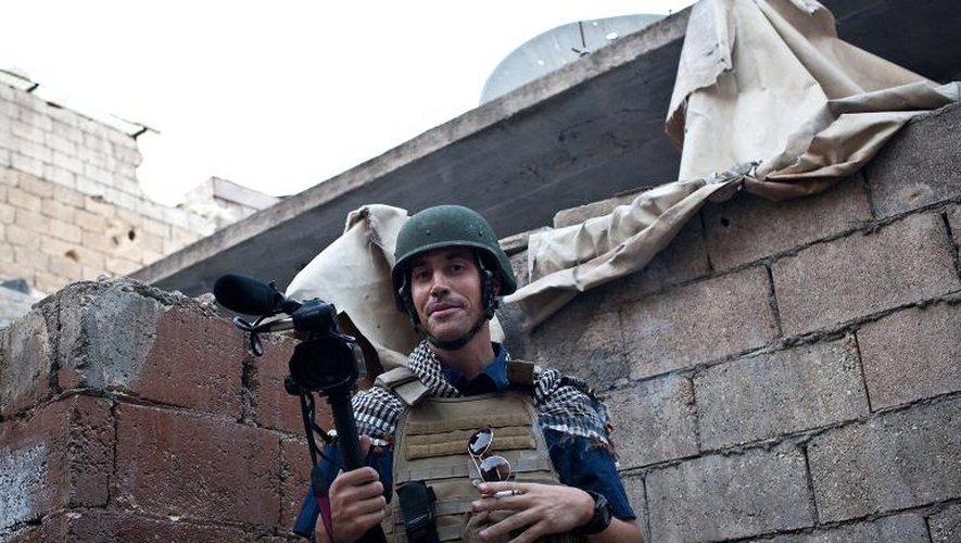 Le journaliste américain James Foley le 5 novembre 2012 à Alep