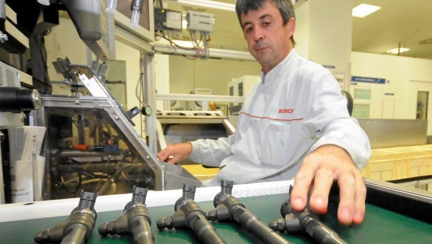 Bougies de préchauffage, buses et injecteurs de nouvelle génération. L'usine Bosch  de Rodez atteint actuellement des records de production. Et dispose d'une visibilité  sur plusieurs années.