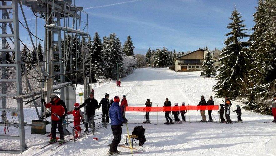 A Laguiole, les pistes sont restées ouvertes tous les jours des vacances.