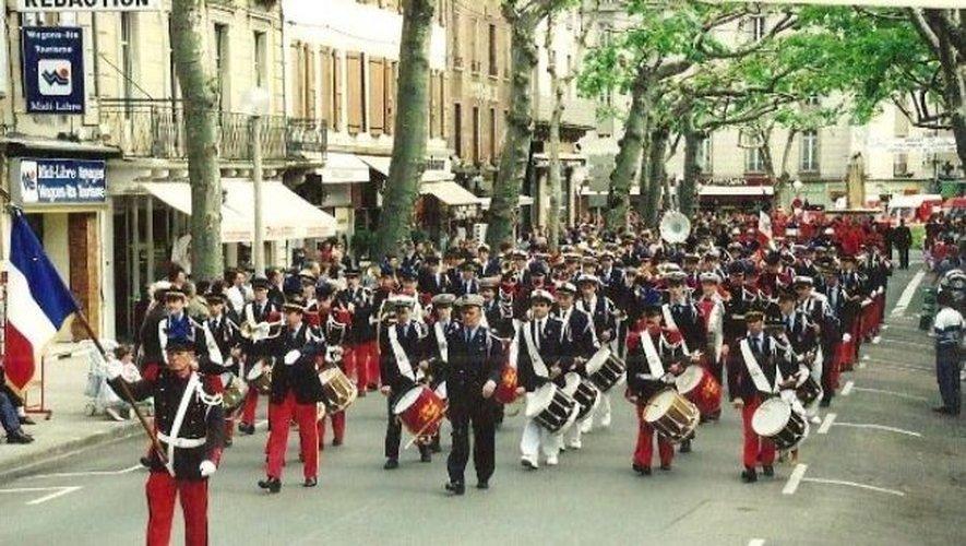 Festival des Batteries Fanfares de l'Aveyron à Millau- 1994 (Participation= Batterie fanfare de Pont de Salars- Millau, Espalion, Rodez).