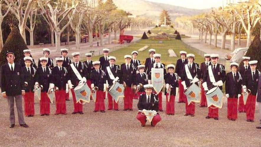 Batterie fanfare l'Elan Millavois 1982.