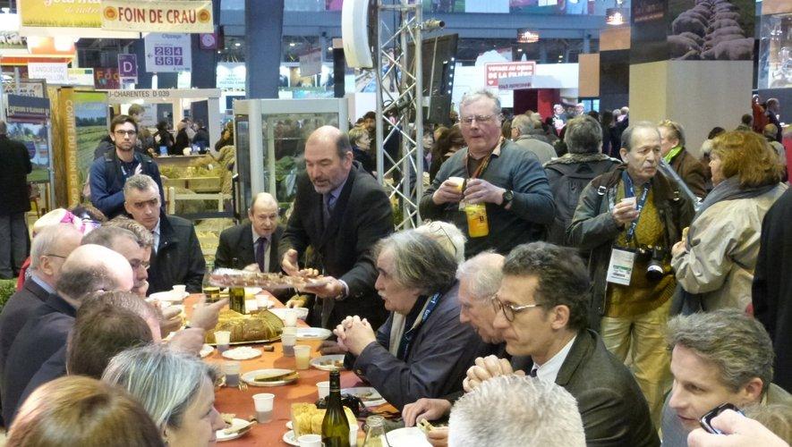 Les décideurs aveyronnais réunis hier à Paris.