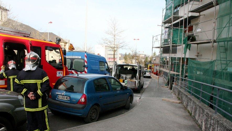 Fuite de gaz à Rodez : circulation coupée et immeuble évacué