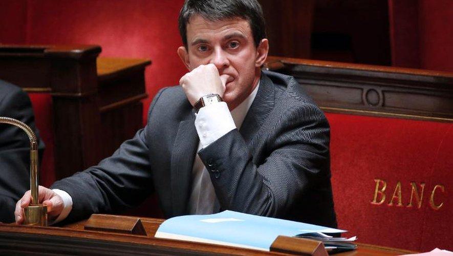 Manuel Valls, le 22 janvier 2014 devant l'Assemblée nationale