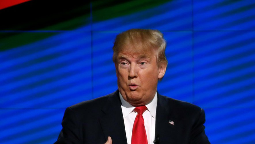Donald Trump, lors d'un débat TV retransmis sur CNN, le 10 mars 2016 à Miami
