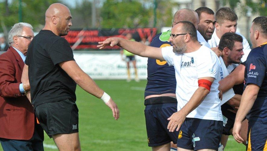 Ici l'ancien coach de Rodez, Furet, et son homologue agathois Millet, en 2012.