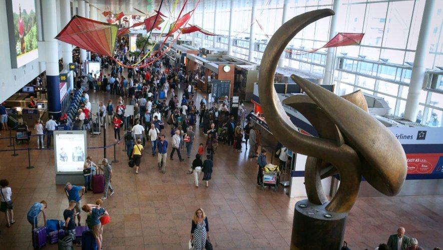 Le hall des départs à l'aéroport de bruxelles de Zaventem, le 3 août 2015