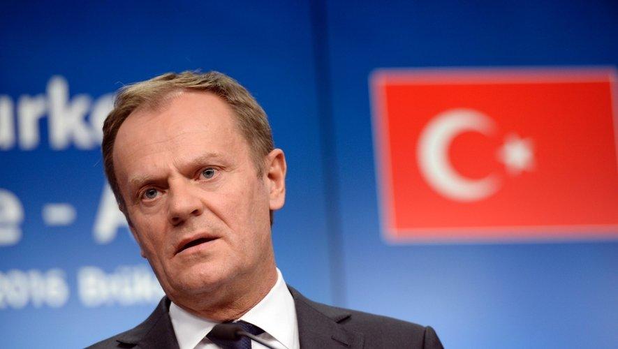 """Le président du Conseil européen Donald Tusk a fait part de son """"horreur"""" après les """"attentats terroristes"""" ."""