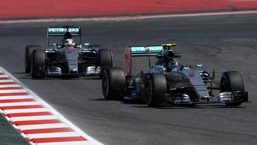 GP d'Espagne: plein soleil pour Hamilton et Rosberg aux essais libres