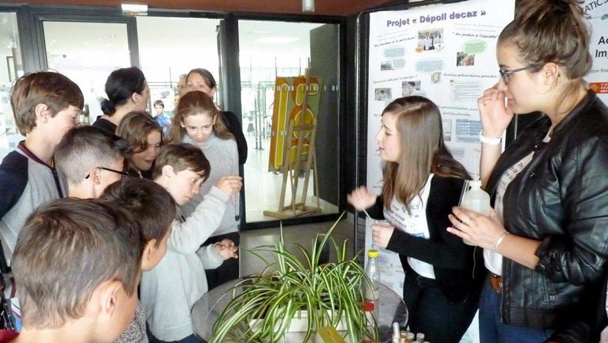 Les lycéens decazevillois ont notamment présenté leur travail à des élèves de CM2.