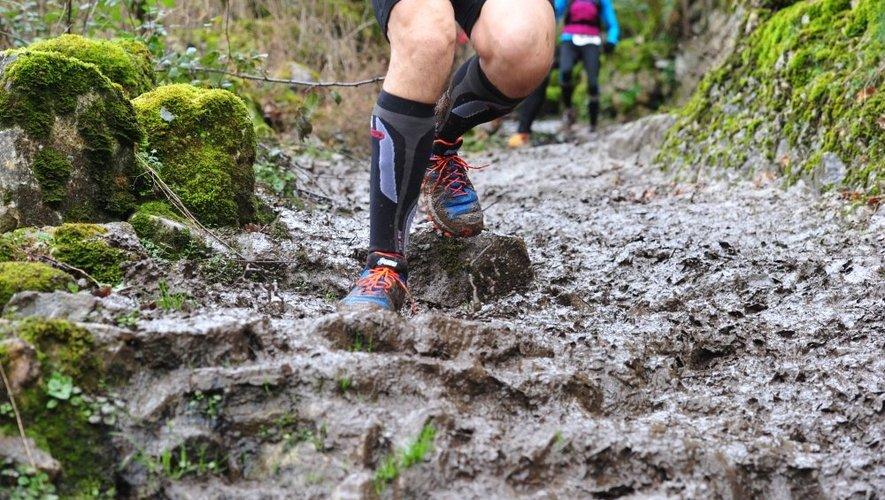 De la boue, des feuilles, de la pluie. Les conditions étaient difficiles, dimanche, à l'occasion de cette quatrième édition du Trail des Ruthènes.