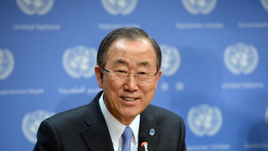 Le secrétaire général de l'ONU Ban Ki-moon à New York, le 19 février 2014
