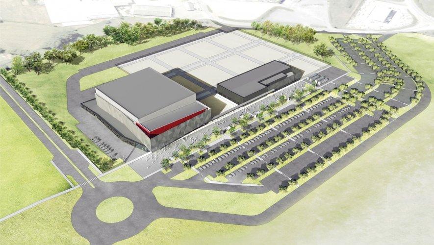 Le futur parc des expositions voulu par l'Agglo s'étendra sur 10 hectares. Ici un des projets tel qu'il avait été imaginé il y a quelques années.