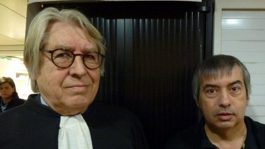 Me Jacques Lévy et son client, Jean-Louis Cayrou.