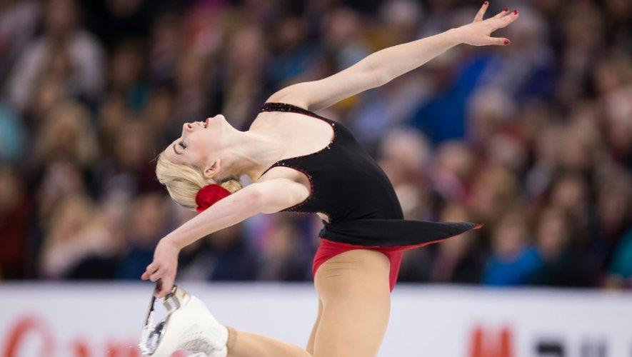 L'Américaine Gracie Gold lors des Championnats du monde de patinage artistique, le 31 mars 2016 à Boston