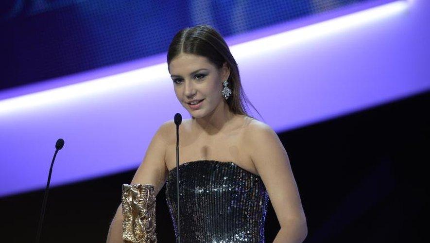 Adele Exarchopoulos lors de la 39e cérémonie des Césars le 28 février 2014 au Châtelet à Paris