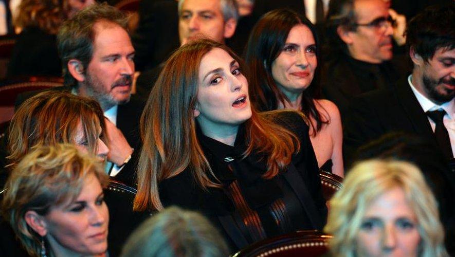 Julie Gayet lors de la 39e cérémonie des Césars le le 28 février 2014 au Châtelet à Paris